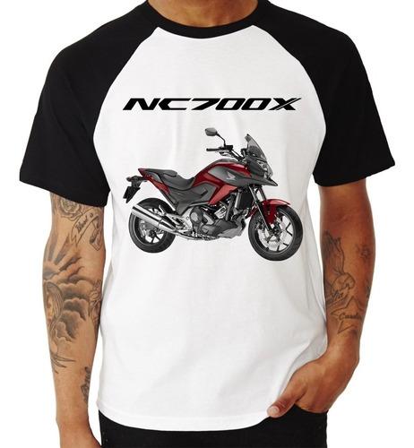 camiseta raglan moto honda nc 700 x