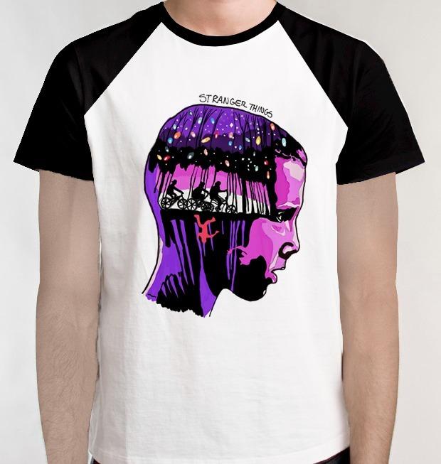 Camiseta Raglan Onze Camisa Blusa Série Stranger Things Tv
