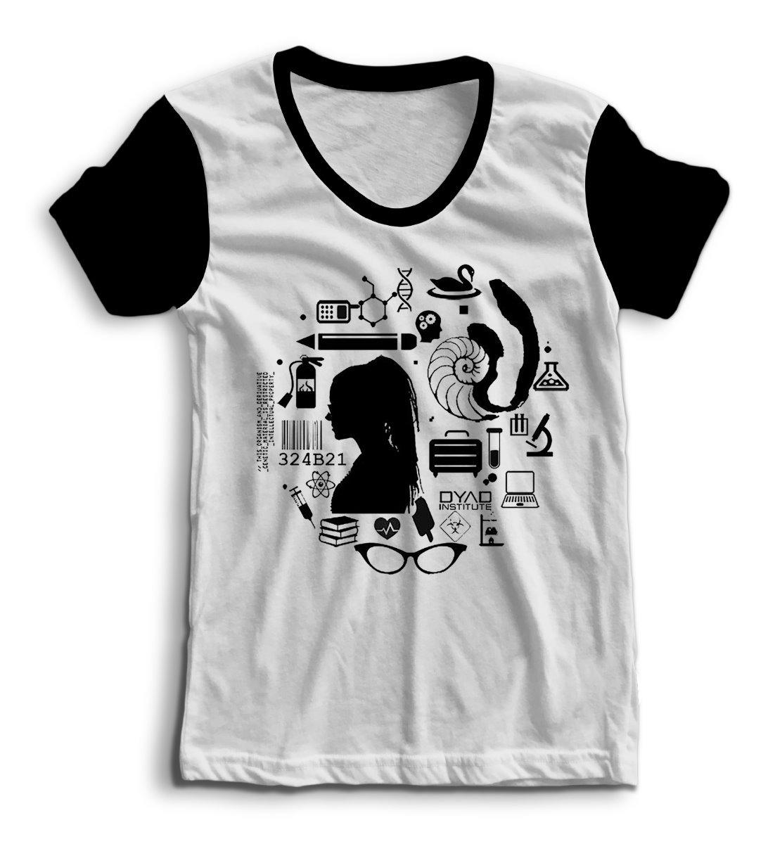Camiseta Raglan Orphan Black Cosima Niehaus Clone Série  02 - R  38 ... a0a7ad60339c8