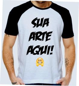 9dd57898e6 Camiseta Raglan Personalizada Com Sua Arte