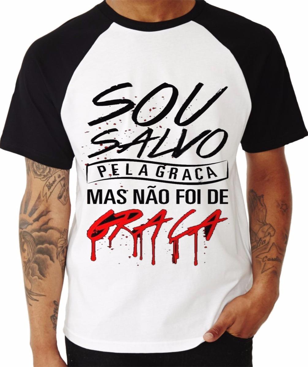 6f3da8a9f7 Camiseta Raglan Personalizada Evangélicas Frete Grátis 1unid - R  80 ...