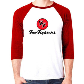 Camiseta Raglan Premium Dtg Rock Foo Fighters