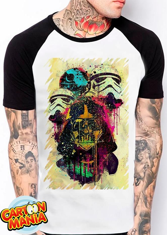 camiseta raglan star wars darth vader geek nerd estrela moda. Carregando  zoom. 7b667ef1ed5