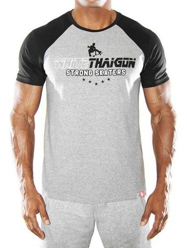 camiseta raglan thaigon série skate  strong skaters   - g...
