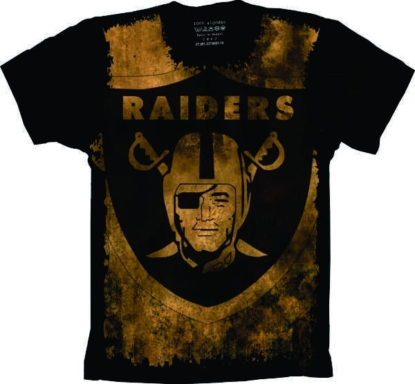 918b1f3ae5c8c Camiseta Raiders Camisa Raiders Uniforme Futebol Americano - R  59 ...