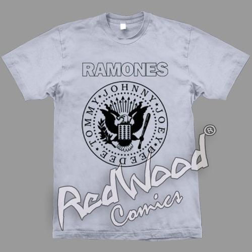 camiseta -  ramones - tamanho m - stamp - redwood
