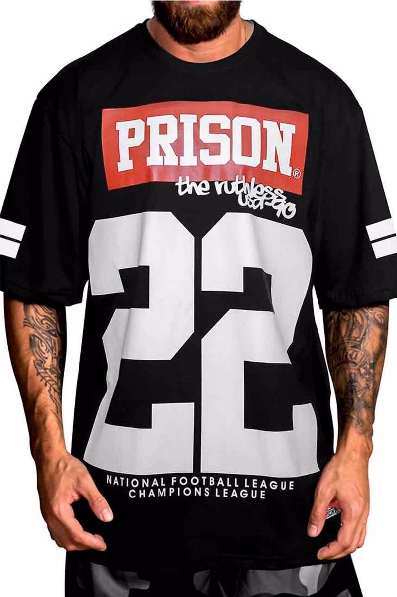 camiseta rap swag football americano 22 prison. Carregando zoom. a3693ea38c6