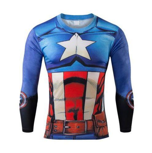Camiseta Rash Guard Compressão Capitão América Bodybuilding - R  108 ... ab61fefa15b50