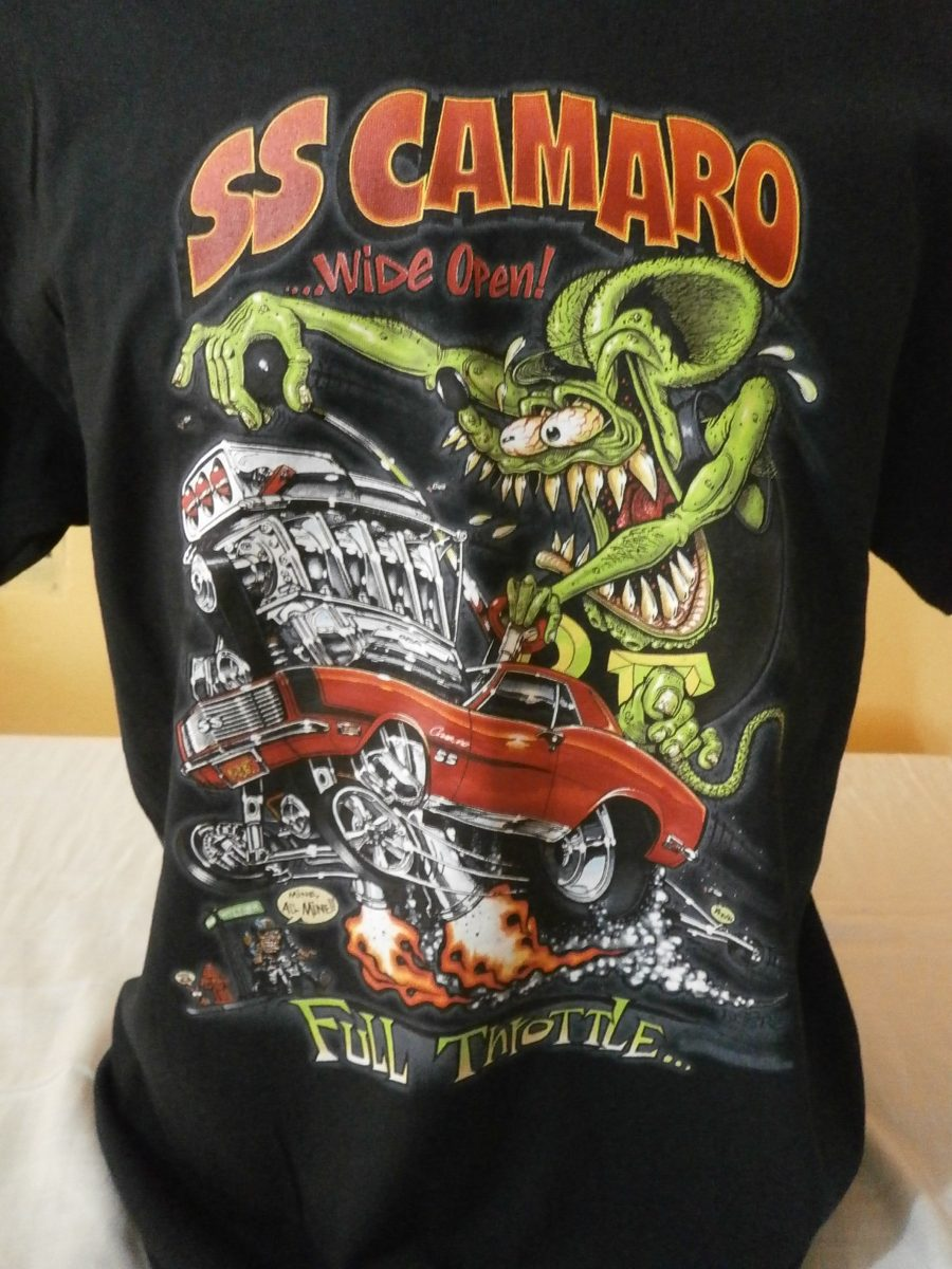c1d3e7fbc Camiseta Rat Fink Ss Camaro Tudor Hot Rod Mopar Vw Gm Cheve - R  110 ...