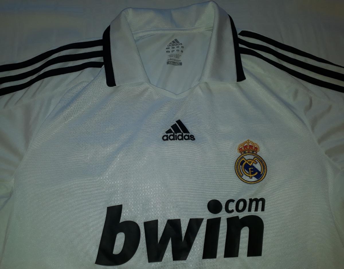 camiseta real madrid 2008   2009 adidas original - 08. Carregando zoom. b151a026af96e