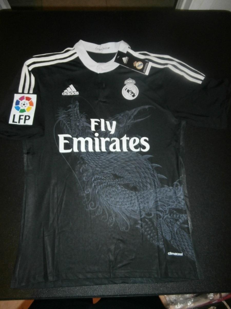 b322d0638aa22 camiseta real madrid 2014 2015 negra liga bbva original 35%. Cargando zoom.