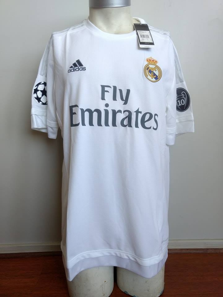 Camiseta Real Madrid 2015 2016 Titular Ed. Champions League