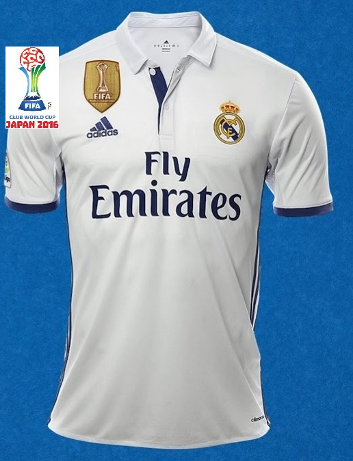 f0b43e66144b8 Camiseta Real Madrid 2016-2017 Climacool Campeon Del Mundo ...