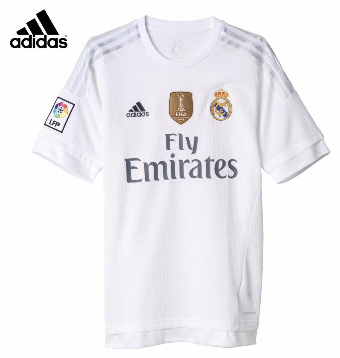 afa1f8865de51 Camiseta Real Madrid James 2015 2016 Logo Champions Campeón ...