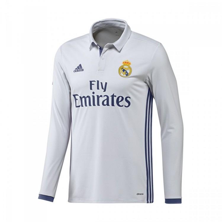 Camiseta Real Madrid 2016 2017 Titular Manga Larga -   999 9ece23cc03cd8