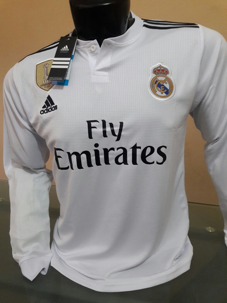 e2aa9694 Camiseta Real Madrid 2018 2019 Manga Larga - S/ 55,00 en Mercado Libre