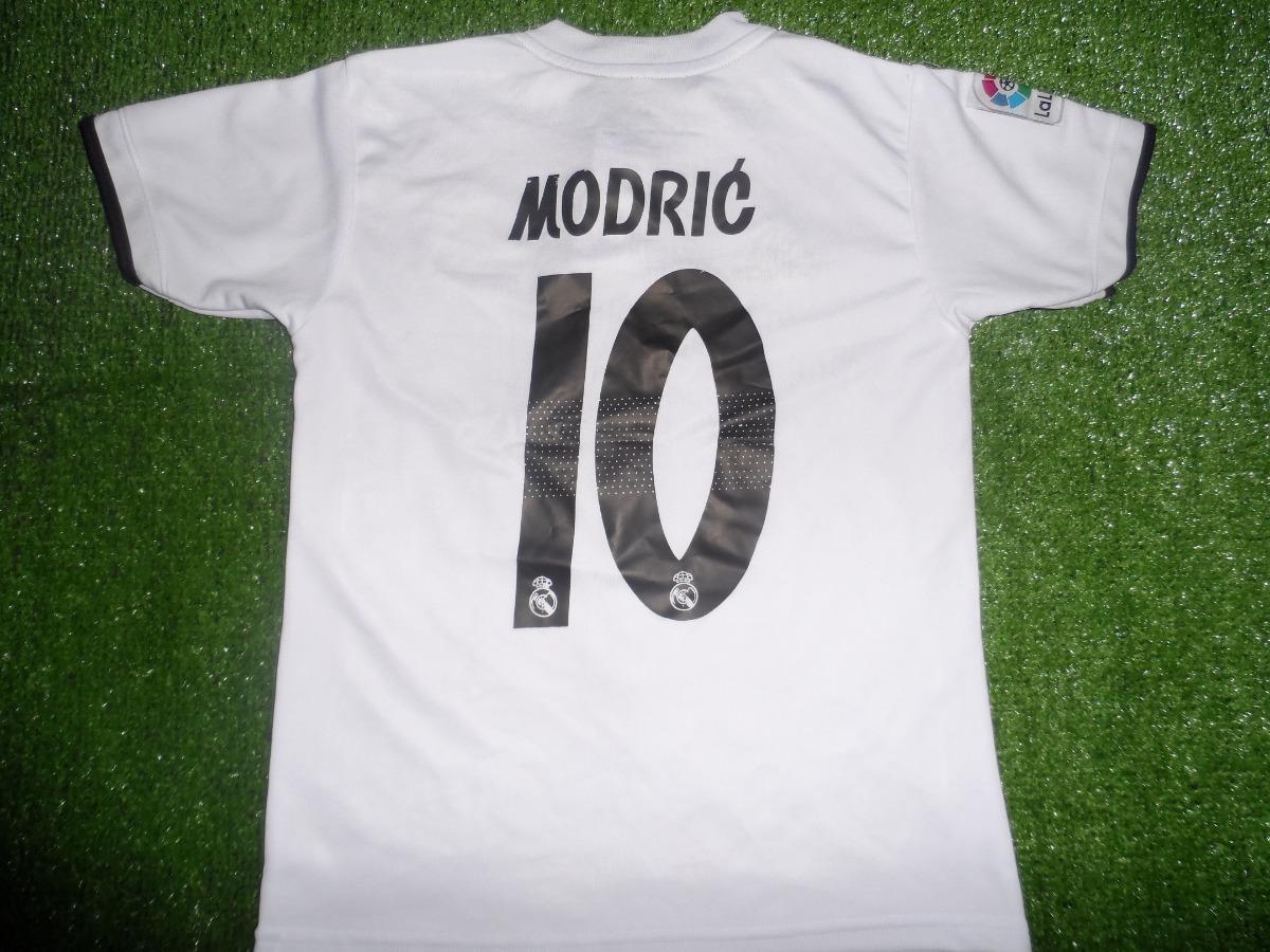 7aa4e897a0fcf Camiseta Real Madrid 2018-2019 Niño Modric -   15.900 en Mercado Libre