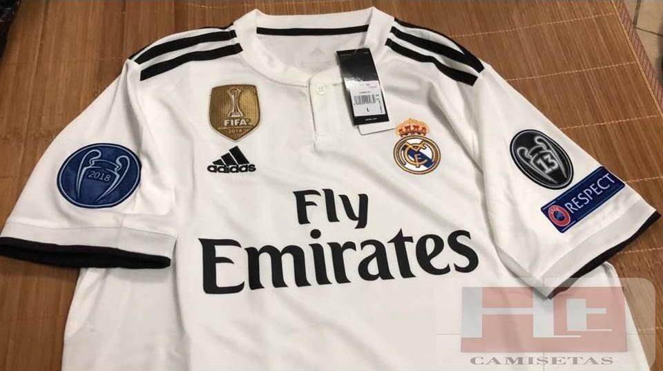 Camiseta Real Madrid 2018 2019 Versión Climalite-champions ... 9c853273b7ed5
