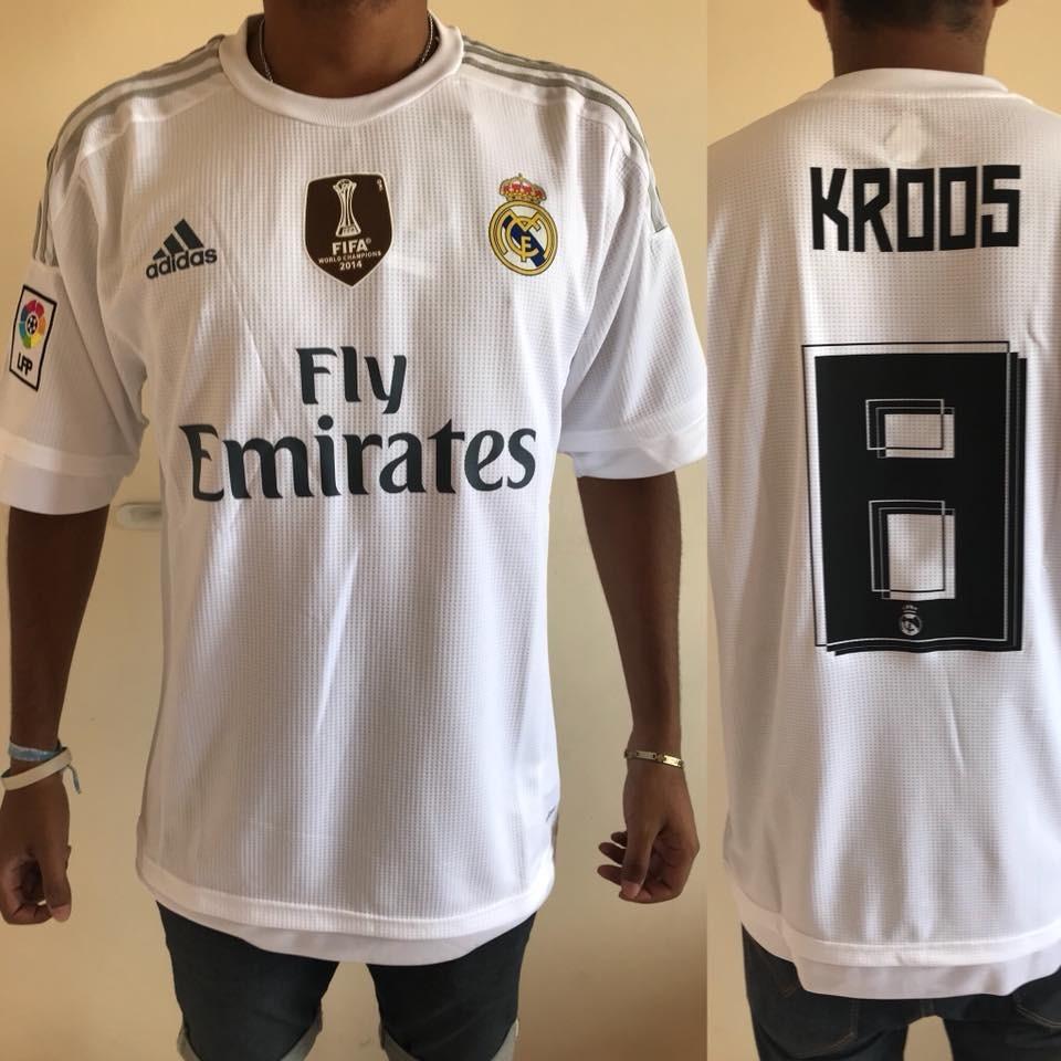 Camiseta De Real Madrid Titular adidas 2016 Toni Kroos -   1.000 f2883e431da75