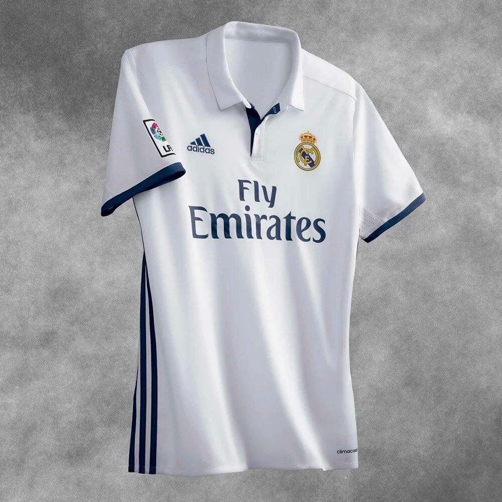 bc942ca0227f7 Camiseta Real Madrid Titular 2016 17 adidas Original -   500