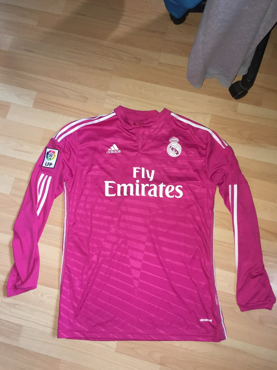 891a2fecc8df2 Camiseta Real Madrid Mangas Largas Rosa -   1.499