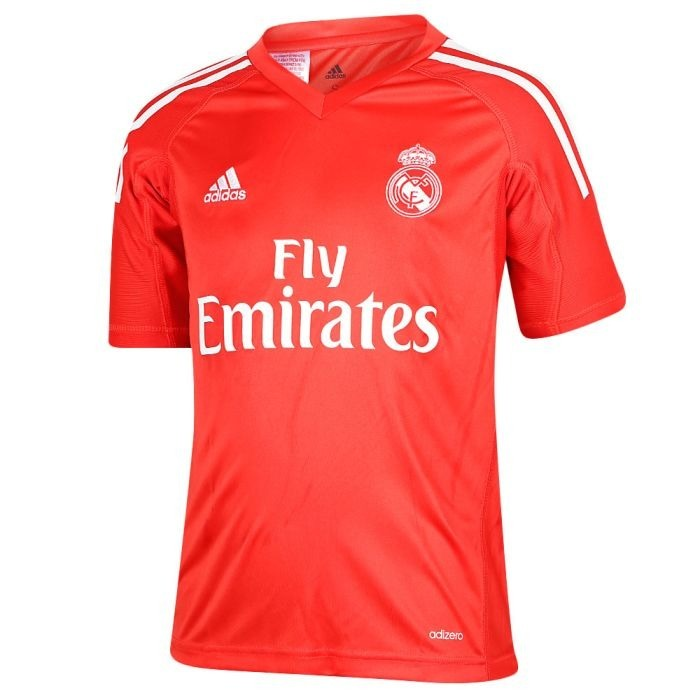 Camiseta Real Madrid Arquero Roja 2017 Nueva Temporada Clima -   699 ... 3ef6b4eab72d9
