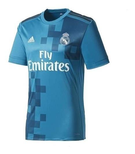 Camiseta Real Madrid Azul Adidas Fly Emirates Modelo 2018