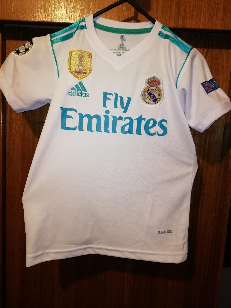0c249f44e0327 Camiseta Real Madrid Blanca Niño 2018.. Ronaldo -   13.990 en ...
