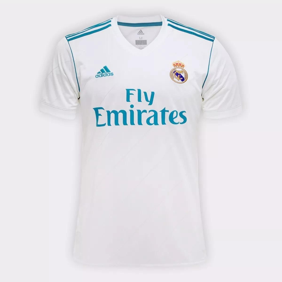 30cdc9b11e Camiseta Real Madrid Champions Original Torcedor 2018 - R  130