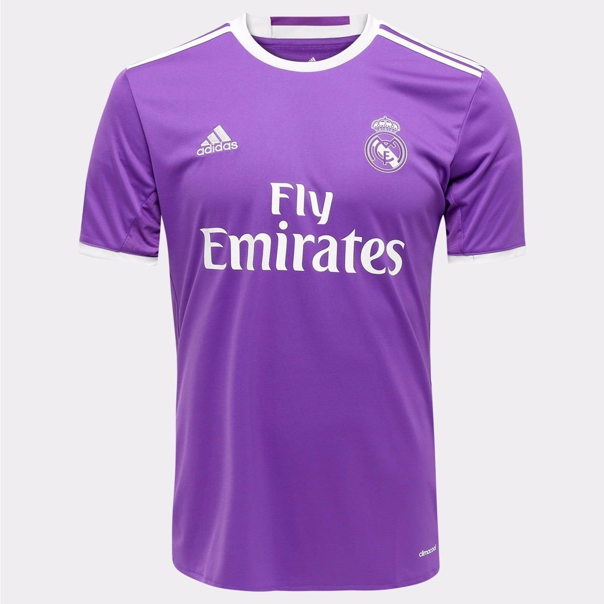 8877a0cd8e camiseta real madrid ii climacool - lilás branca - original. Carregando zoom .