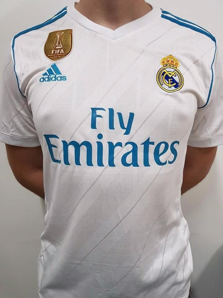 cd236c164 Camiseta Real Madrid Logos Shampion 2017 2018 Original -   265.000 ...