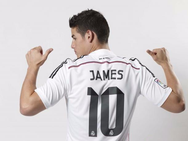 50869030e9be9 Camiseta Real Madrid Mujer James Original -   145.000 en Mercado Libre
