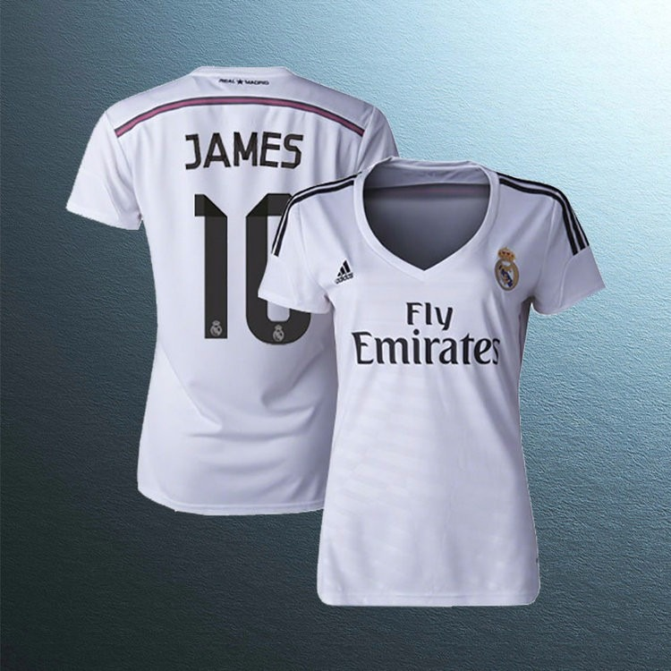 camiseta real madrid mujer james dragones 69ae9d1a61b2e