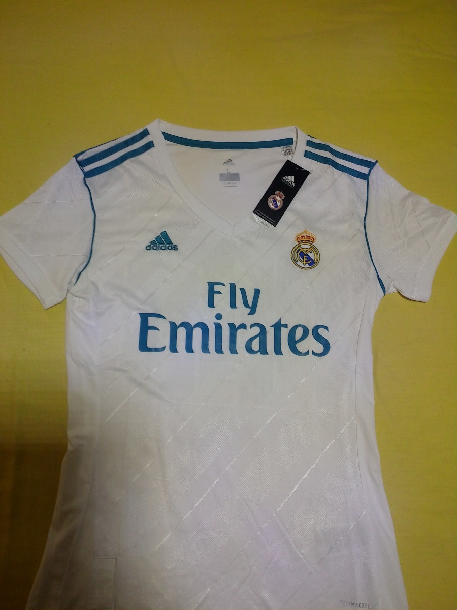 0fbfb757a00ff Camiseta Real Madrid Mujer Local -   23.990 en Mercado Libre