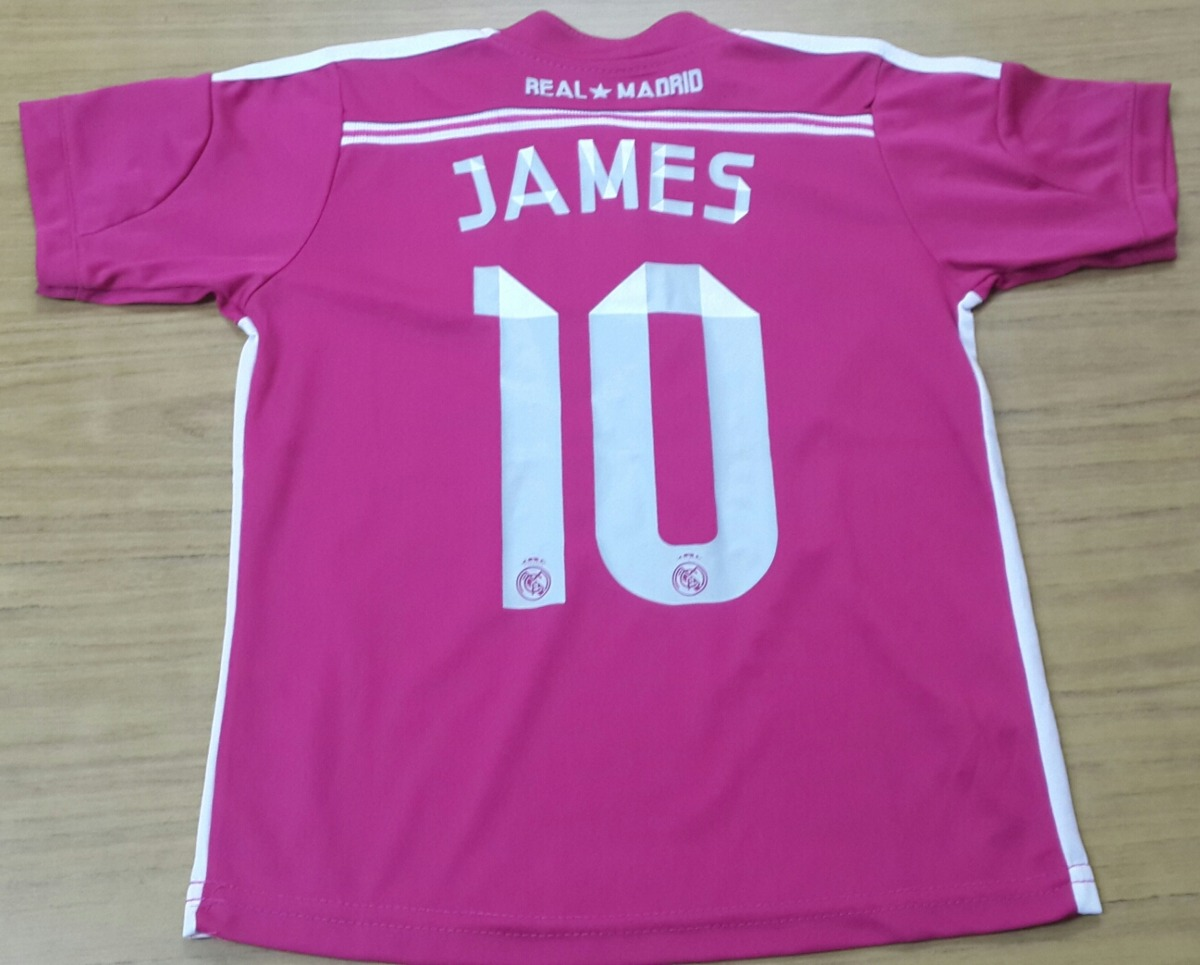 001c5bf0b51f6 Camiseta Real Madrid - Rosa - James Rodriguez - Talle 6 -   245