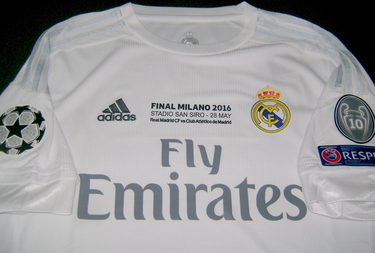 camiseta real madrid titular 2016 final champions milan. Cargando zoom. 003db11d99ed6