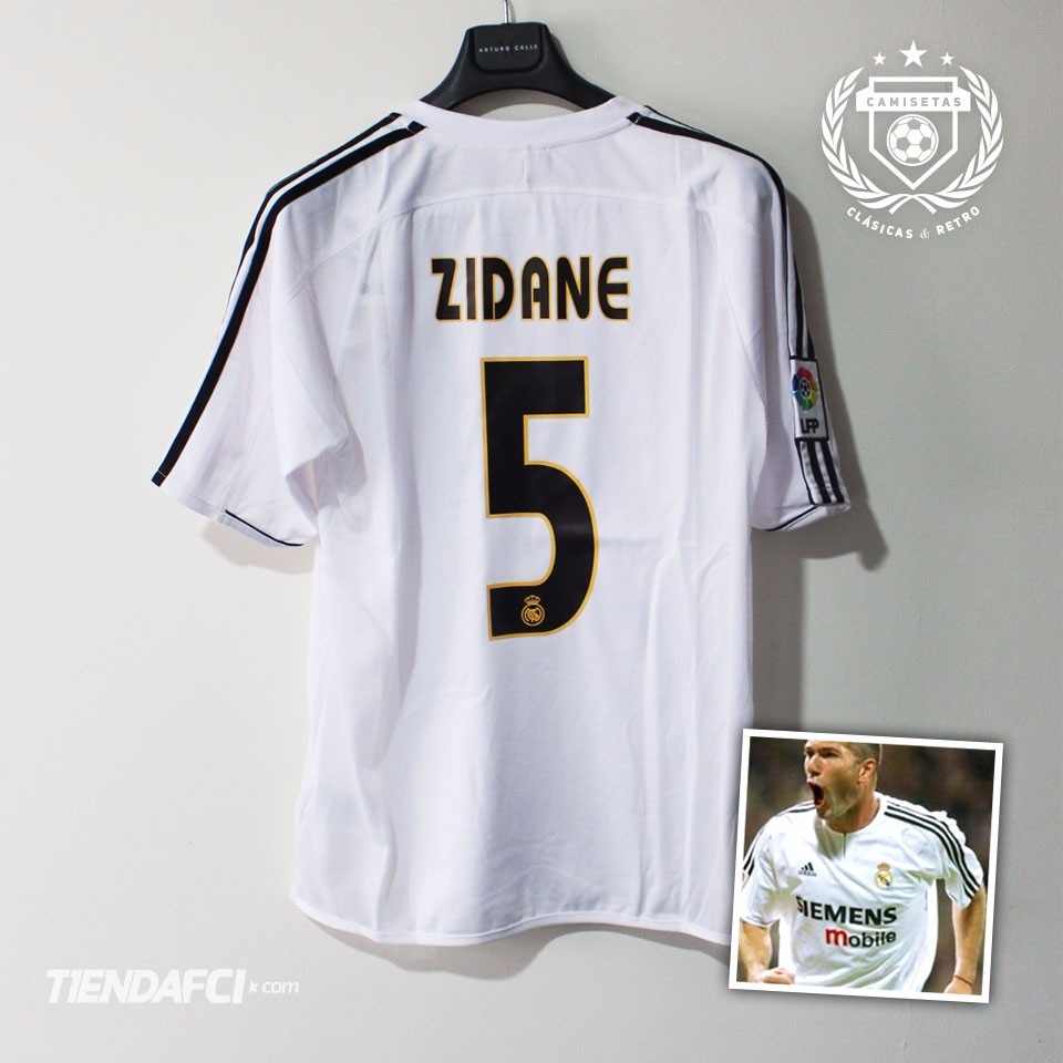 3747d737fda Camiseta Real Madrid Zidane Retro adidas -   159.000 en Mercado Libre