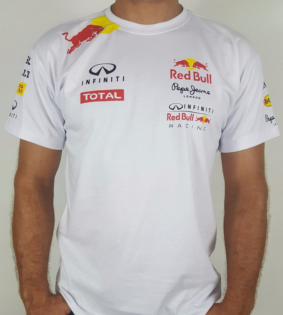 81d89f99c0 camiseta red bull racing branca infiniti london. Carregando zoom.