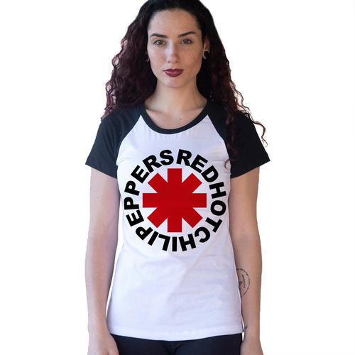 camiseta red hot chili peppers rock camisa bon jovi blusa feminina babylook show tour raglan tumblr moda blog