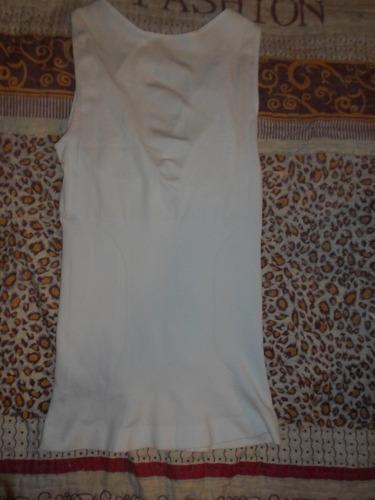 camiseta reductora blanca, talla s