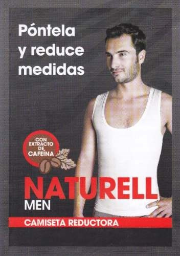 camiseta reductora de hombres con extracto de cafeina + gel
