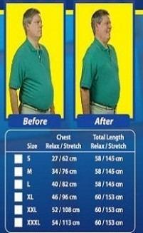 camiseta reductora para hombre (2 camisetas)