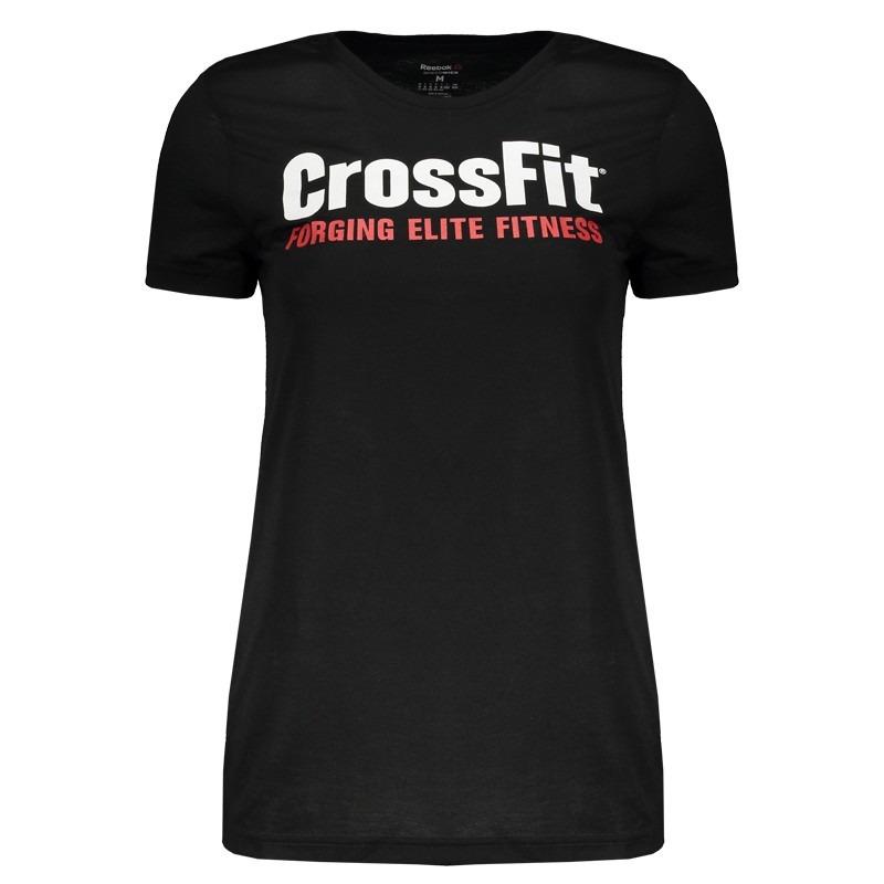 0a904632ded camiseta reebok crossfit speedwick feminina preta. Carregando zoom.