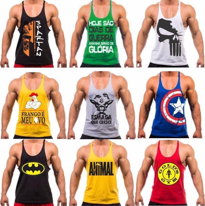 Camiseta Regata Academia Musculação Masculina Treino Revenda - R  24 ... d8197e65d71