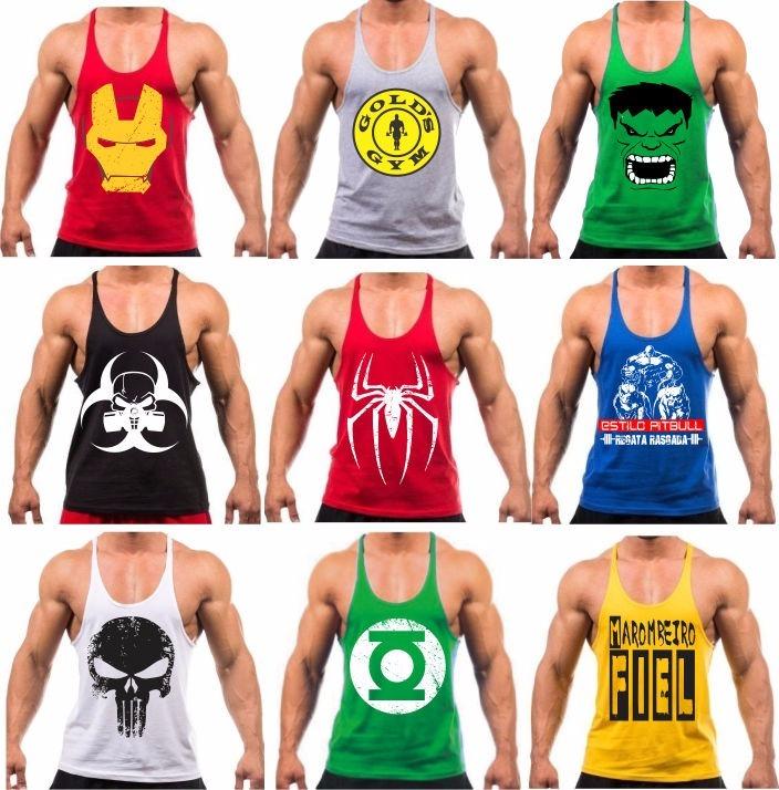 762fc0a704 Camiseta Regata Academia Musculação Masculina Treino Revenda - R  24 ...