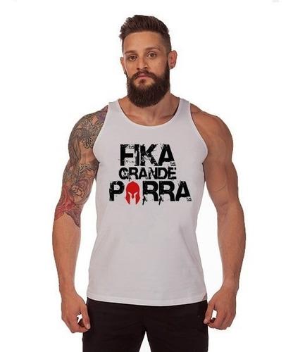 camiseta regata  academia treino musculação fika grande