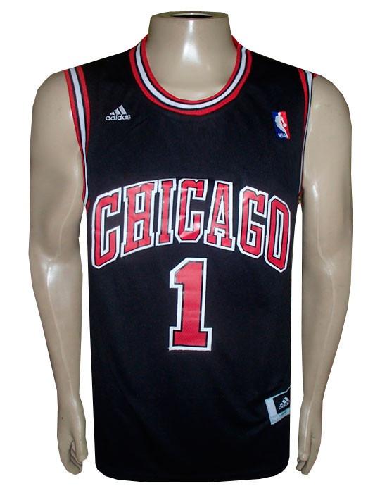 ad758a40d5 Camiseta Regata adidas Chicago Bulls Preta Rose - R  97