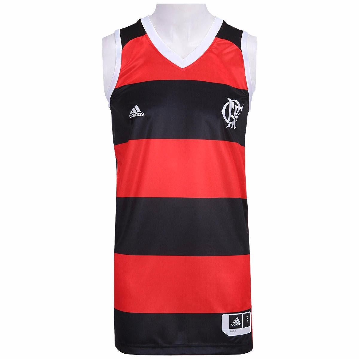 fdba94f11 camiseta regata adidas flamengo basquete 1 vermelho e preto. Carregando  zoom.