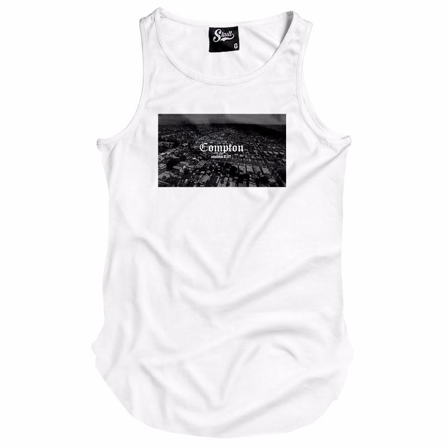 camiseta regata alongada compton population rap hip hop long. Carregando  zoom. 2bcf7cfcd91
