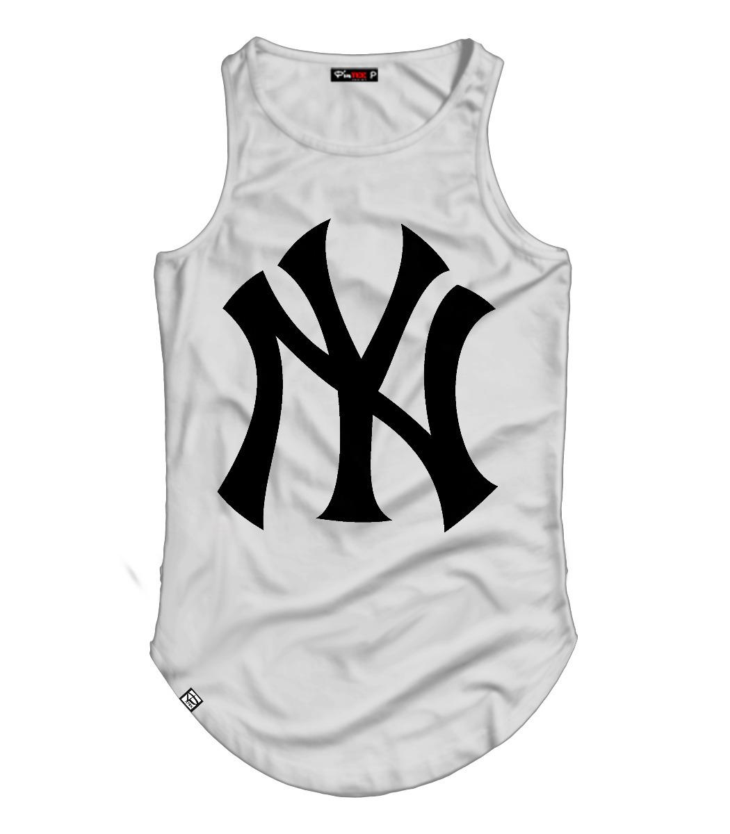 camiseta regata alongada long line new york ny la algodão. Carregando zoom. 2faa2b303da
